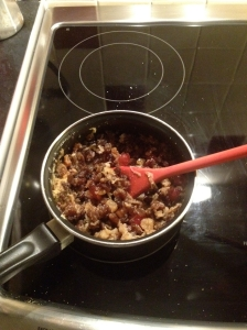 Mince in the saucepan