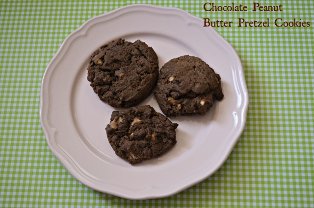 Chocolate Peanut Butter Pretzel Cookies 1