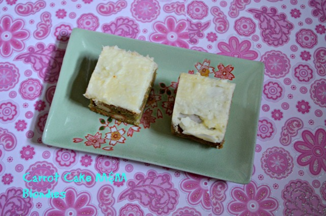 Carrot Cake M&M Blondies 1