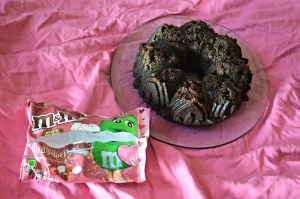 Dark Chocolate Bundt Cake with Red Velvet Bites