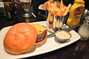 American cheeseburger