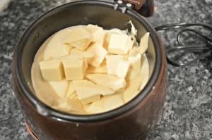 Melt the white chocolate