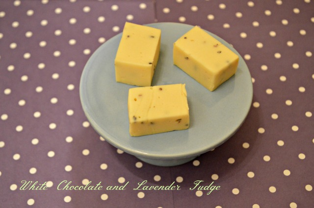 White Chocolate and Lavender Fudge 1