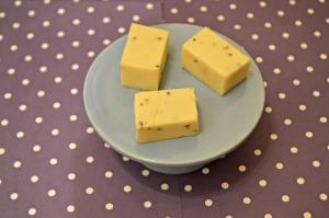 White Chocolate and Lavender Fudge