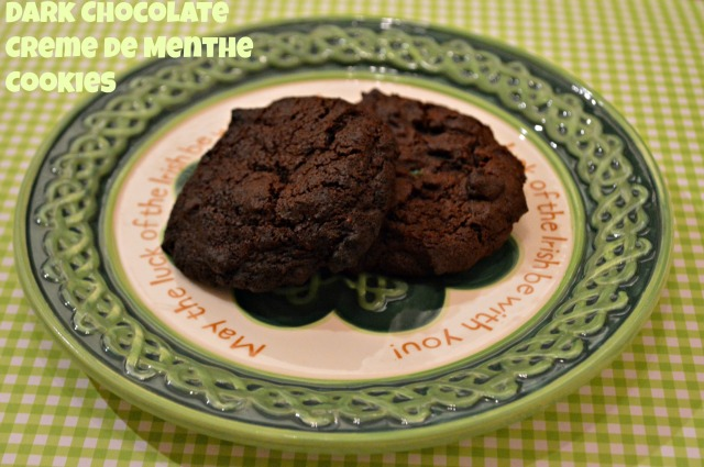 Dark Chocolate Creme de Menthe Cookies 1