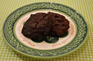Dark Chocolate Creme de Menthe Cookies
