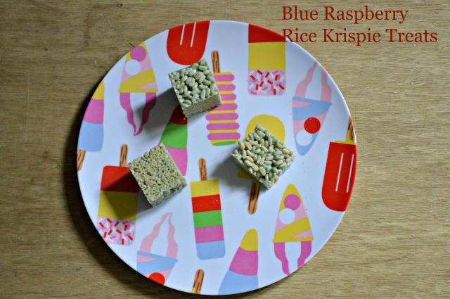 Blue Raspberry Krispie Treats 1