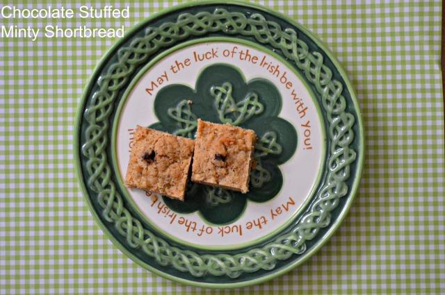 Chocolate Stuffed Minty Shortbread 1