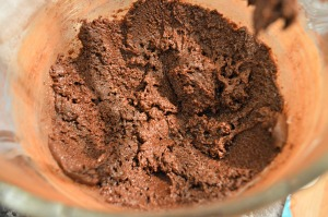 Sift in cocoa powder