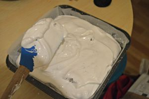 Coat the marshmallow mixture