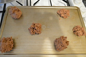 Place on greased cookie sheet